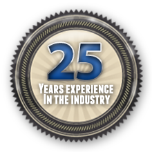 25 Years Experience In The Industry
